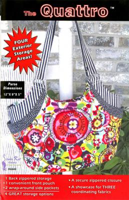 The Quattro Handbag sewing pattern from Studio Kat Designs
