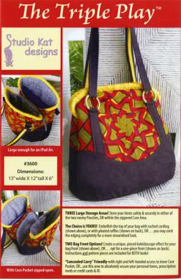 The Triple Play sewing pattern from Studio Kat Designs