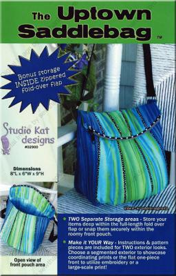 The Uptown Saddlebag sewing pattern from Studio Kat Designs
