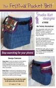 The Festival Pocket Belt sewing pattern from Studio Kat Designs