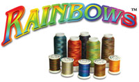 Superior Rainbows polyester sewing thread logo