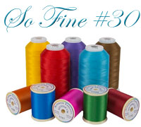 Superior So Fine #30 machine quilting thread logo