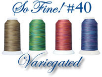 Superior So Fine Variegated machine quilting thread logo