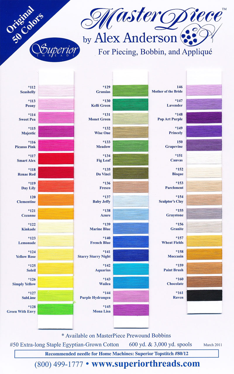 Superior masterpiece 1 actual thread color chart nvjuhfo Images