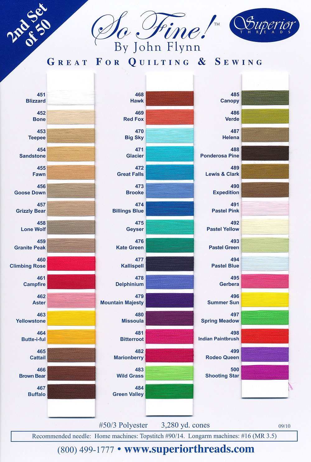 Superior so fine 2 actual thread color chart so fine 2 color chart nvjuhfo Images