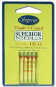 Superior Titanium-Coated Topstitch Needles - #100/16  Pack of 5