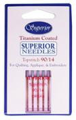 Superior Titanium-Coated Topstitch Needles - #90/14  Pack of 5
