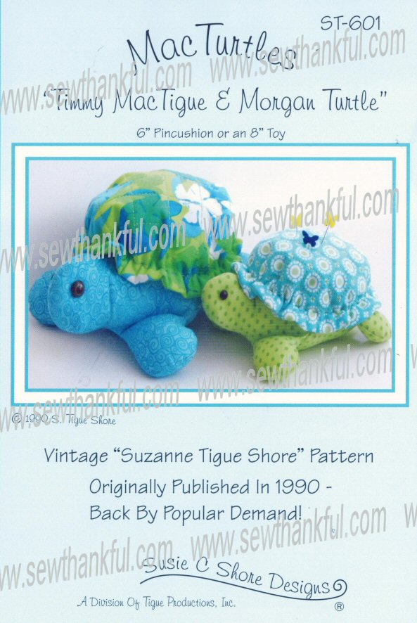 MacTurtles ST-601 Pincushions sewing pattern by Susie C. Shore Designs