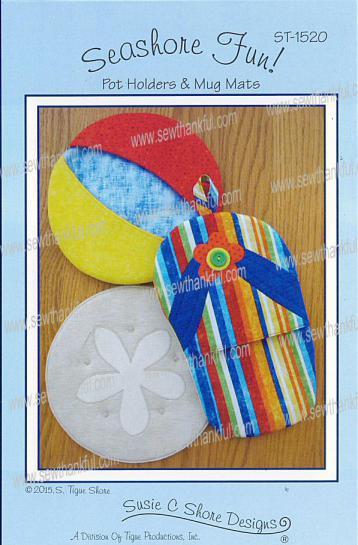 Seashore Fun Pot Holders & Mug Mats sewing pattern by Susie C. Shore Designs