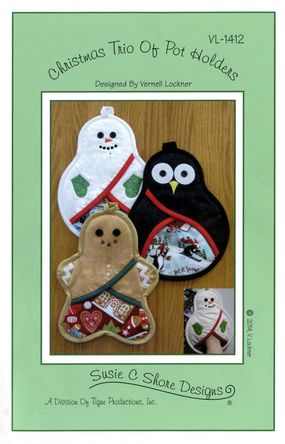 Christmas Trio Of Pot Holders Sewing Pattern By Susie C