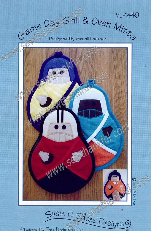 Game Day Grill Amp Oven Mitts Sewing Pattern By Susie C