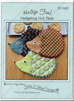 Hedge Fun Hot Pads sewing pattern by Susie C. Shore Designs
