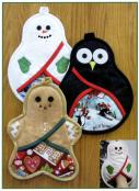 Christmas Trio of Pot Holders sewing pattern by Susie C. Shore Designs 2