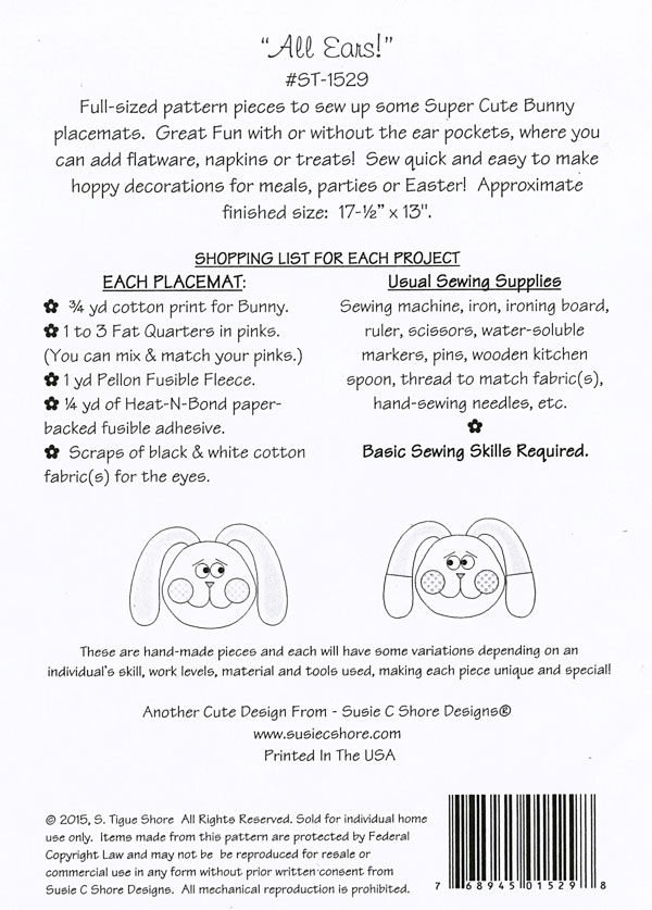 All-Ears-sewing-pattern-Susie-C-Shore-back