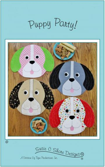 Puppy Party placemats sewing pattern by Susie C. Shore Designs