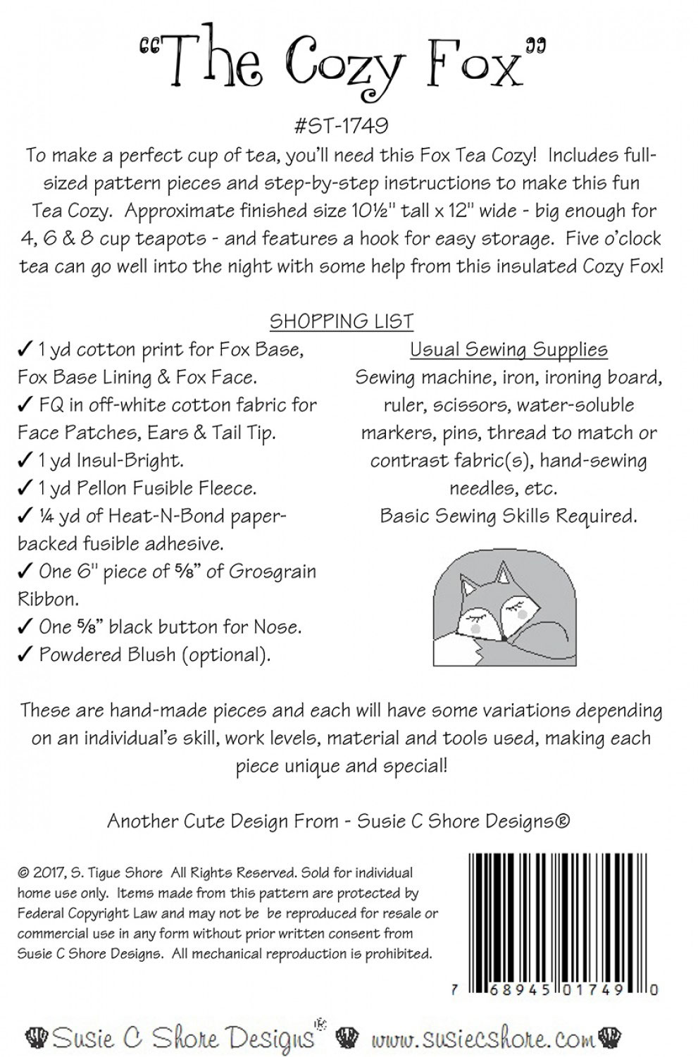 The-Cozy-Fox-sewing-pattern-Susie-C-Shore-back
