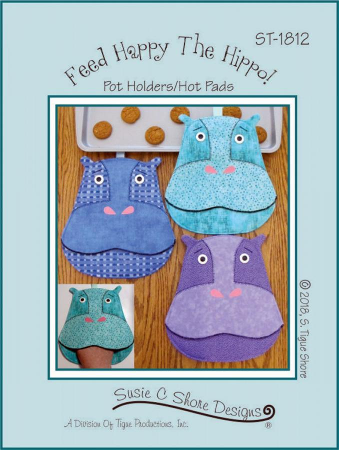 Feed Happy The Hippo sewing pattern by Susie C. Shore Designs