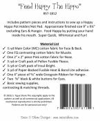 Feed Happy The Hippo sewing pattern by Susie C. Shore Designs 1