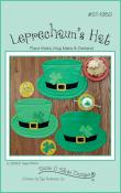INVENTORY REDUCTION...Leprechaun Hat place mats + mug mats & garland sewing pattern by Susie C. Shore Designs