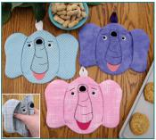 Peanut the elephant pot grabbers/pot holders sewing pattern by Susie C. Shore Designs 2