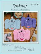 Peanut the elephant pot grabbers/pot holders sewing pattern by Susie C. Shore Designs