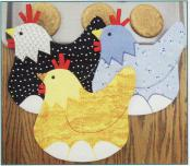 Princess Lay-A chicken pot holders/mug mats/trivets sewing pattern by Susie C. Shore Designs 2