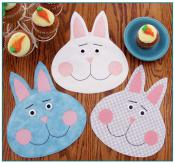 Sweetie bunny pot holders/mug mats/trivets sewing pattern by Susie C. Shore Designs 2