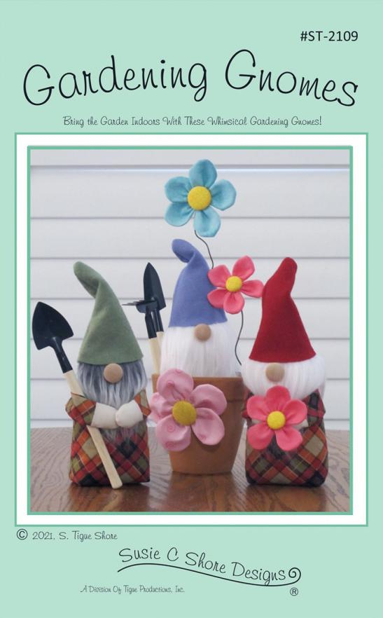 Gardening Gnomes sewing pattern by Susie C. Shore Designs
