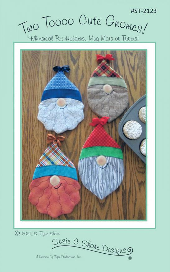 Two Tooo Cute Gnomes Hot Pads sewing pattern by Susie C. Shore Designs