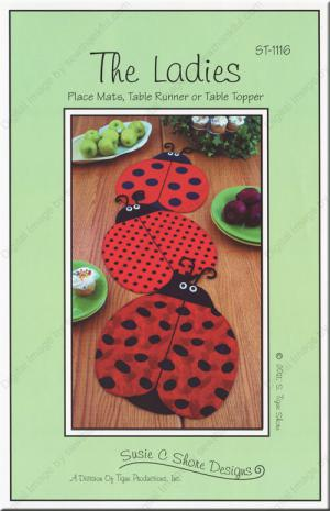 The ladies place mats table runners or table topper sewing pattern the ladies place mats table runners or table topper sewing pattern by susie c shore designs watchthetrailerfo