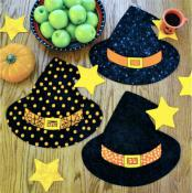 Winifred's Party, witch's/wizard's hat placemats and star garland sewing pattern by Susie C. Shore Designs 2