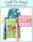 Cash on Hand Wristlet Wallet & Key Fob sewing pattern by Susie C. Shore Designs 2