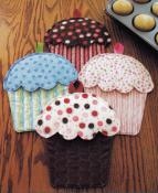 Hot Cakes Cupcake Oven Mitts pattern by Susie C. Shore Designs 3