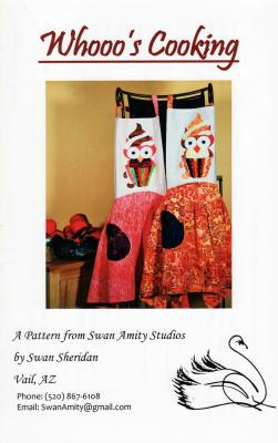 CLOSEOUT...Whooo's Cooking apron sewing pattern from Swan Amity Studios
