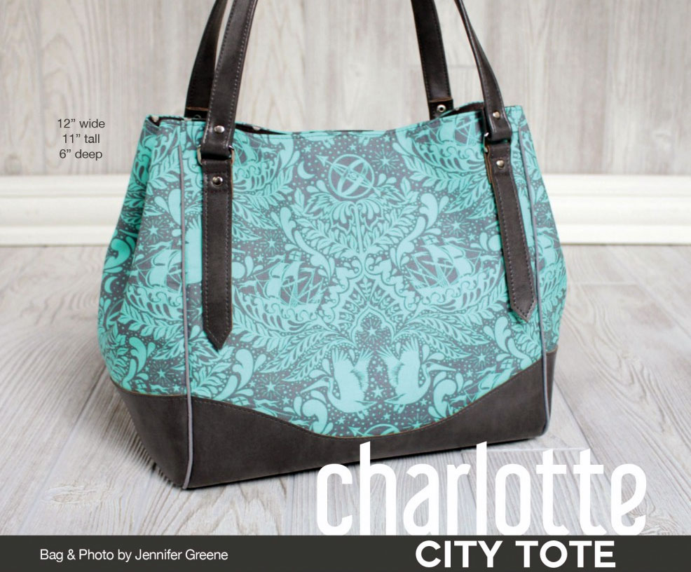Charlotte City Tote Sewing Pattern From Swoon