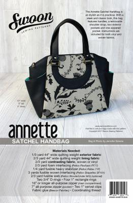 Annette Satchel Handbag sewing pattern from Swoon