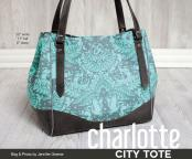 CLOSEOUT...Charlotte City Tote sewing pattern from Swoon 2