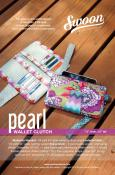 Pearl Wallet Clutch sewing pattern from Swoon