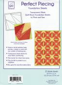 Perfect Piecing Transparent Quilt Block Foundation Sheets. Pack of 25 2