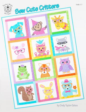 Sew-Cute-Critters-sewing-pattern-book-Taylor-Made-Designs-front