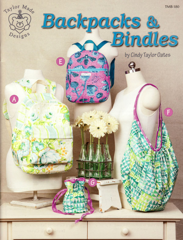 Backpacks Amp Bindles Sewing Pattern Book By Cindy Taylor Oates