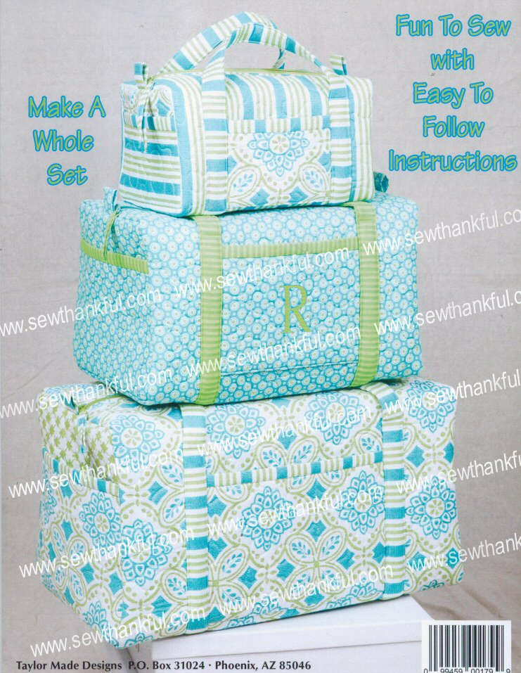 Duffle Bags Sewing Pattern Book By Cindy Taylor Oates