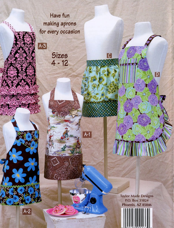 Little-Retro-Aprons-for-Kids-sewing-pattern-book-Taylor-Made-Designs-back