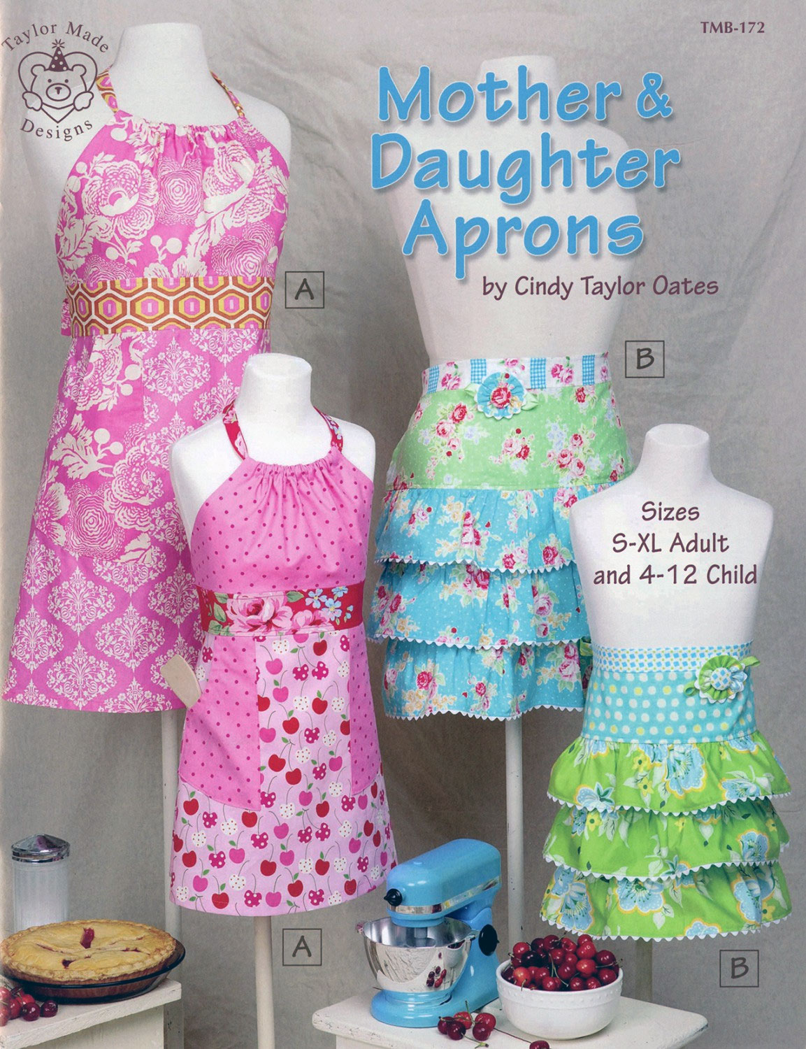 Mother-and-Daughter-aprons-sewing-pattern-book-Taylor-Made-Designs-front