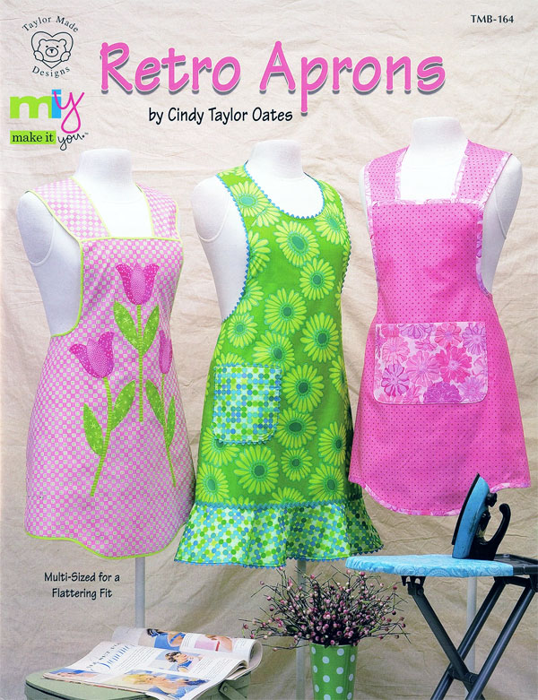Retro Aprons pattern book by Cindy Taylor Oates