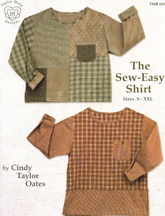 The Sew-Easy Shirt pattern book by Cindy Taylor Oates