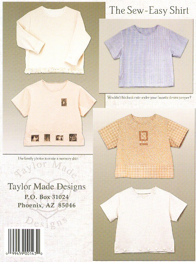 The Sew Easy Shirt Pattern Book By Cindy Taylor Oates