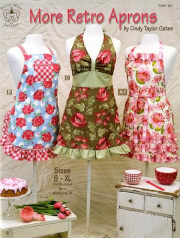 MORE Retro Aprons pattern book by Cindy Taylor Oates