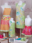 Mother & Daughter Aprons pattern book by Cindy Taylor Oates, Taylor Made Designs 2