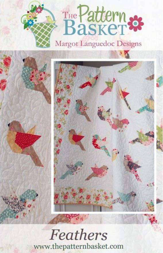 Feathers quilt sewing pattern from The Pattern Basket